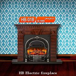 شومینه | شومینه اچ بی | شومینه برقی کلاسیک | شومینه برقی با فریم چوبی و چدن | شومینه ممی پور | اچ بی 018 | HB-018|HB fireplace|electric fireplace|william fireplace