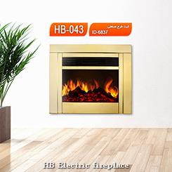 شومینه | شومینه برقی زمینی| شومینه زمینی طلایی|اچ بی 043 | HB fireplace | HB electric fireplace |