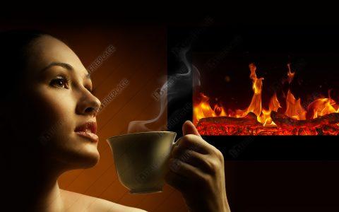 نمای شعله شومینه برقی