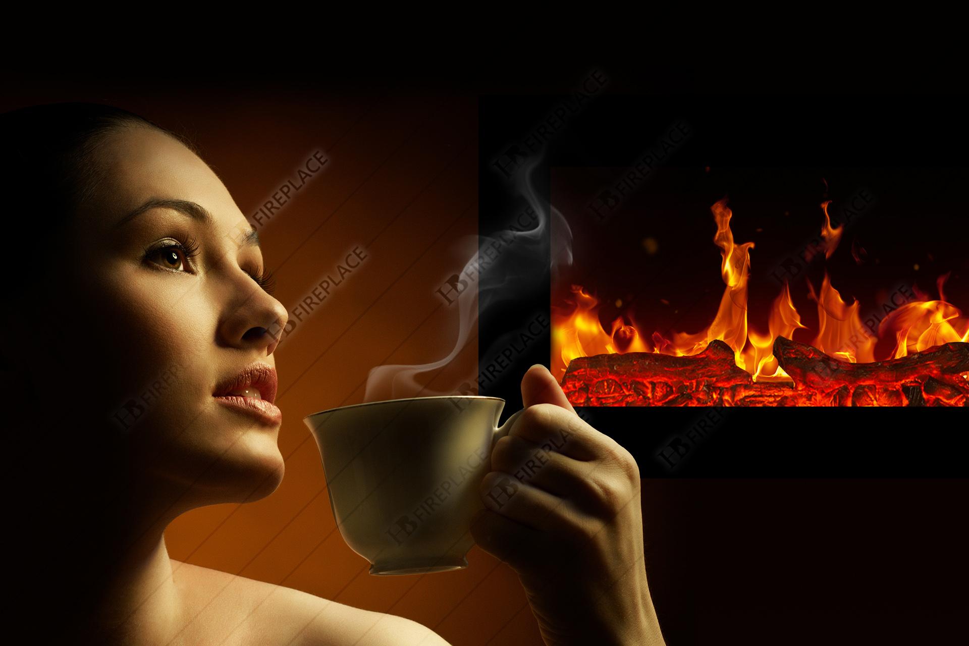 شومینه | شومینه برقی | اچ بی | اچ بی ۰۲۲ | شومینه ال سی دی | HB-022 | HB fireplace | electric fireplace
