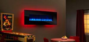 شومینه برقی دیواری ال سی دی