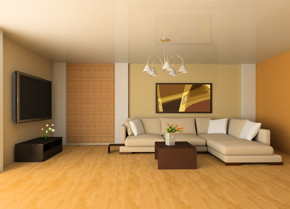 sectional-sofa-in-yellow-living-room-interior-with-yellow-wooden-laminated-flooring