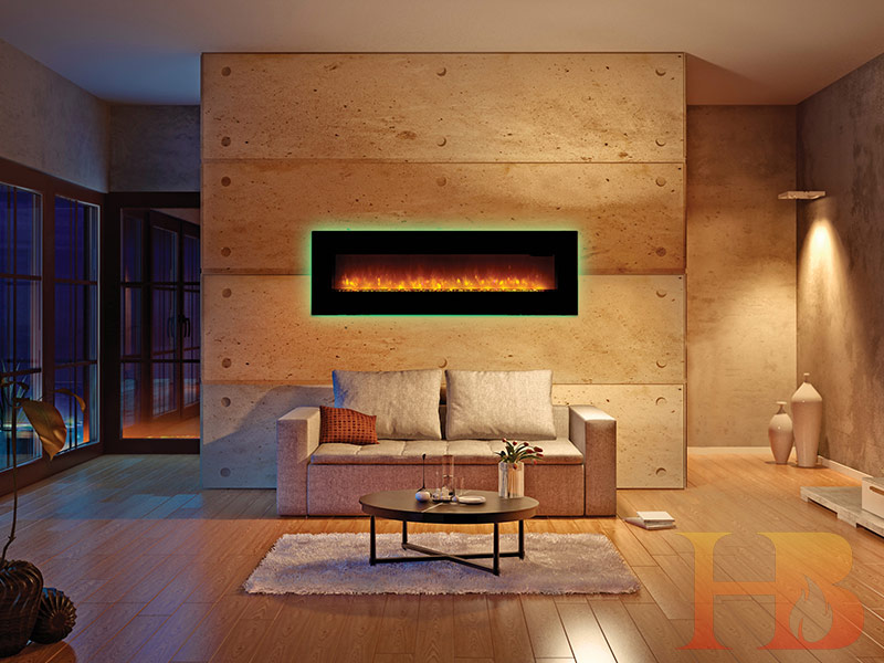 اتاق نشمین مدرن با شومینه برقی