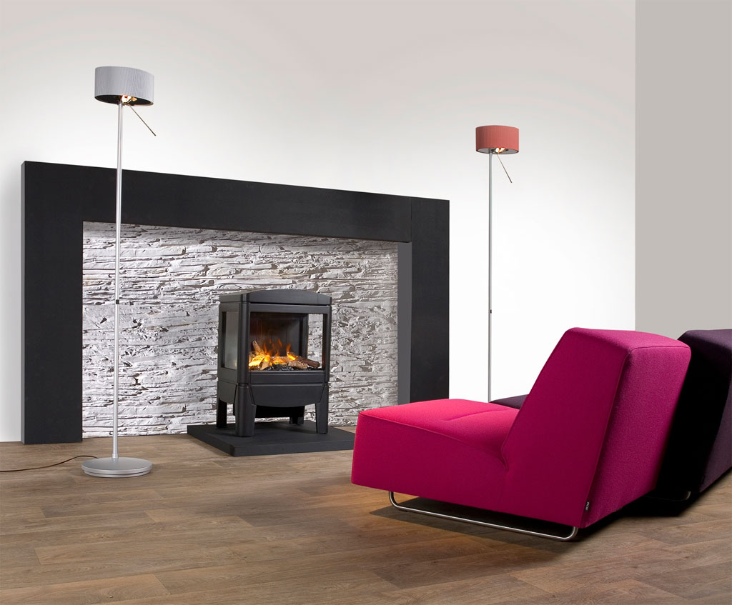living-room-fascinating-small-living-room-decoration-using-pink-and-black-coach-including-square-black-freestanding-fireplace-and-tall-stainless-steel-floor-lamp-marvelous-living-room-decoration-with