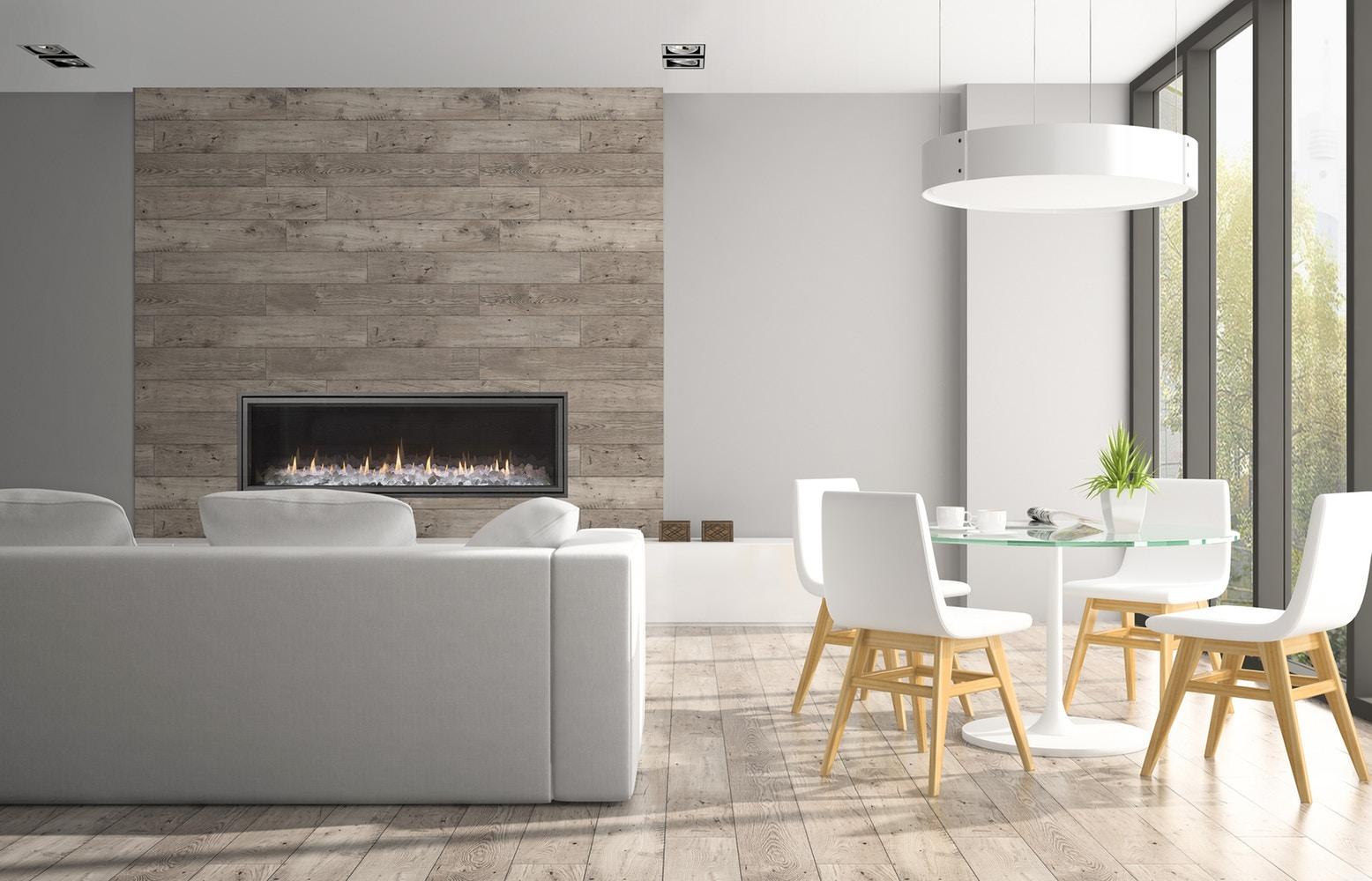 دیزاین خانه مدرن با شومینه گازی
