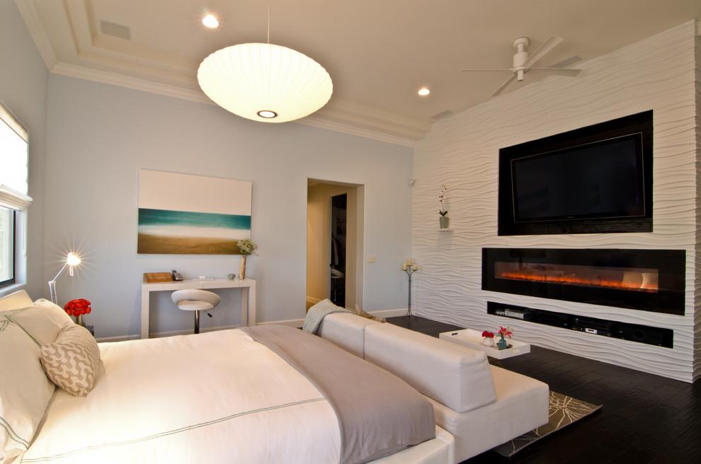 شومینه برقی در اتاق خواب