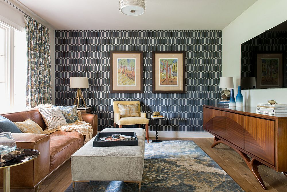 Mid-Century-Modern-Wallpaper-Living-Room