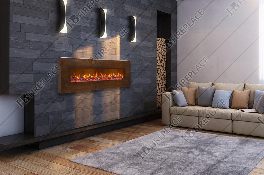 شومینه | شومینه برقی | شومینه برقی با فریم چوبی | شومینه اچ بی 051 | شومینه برقی ۰۵۱