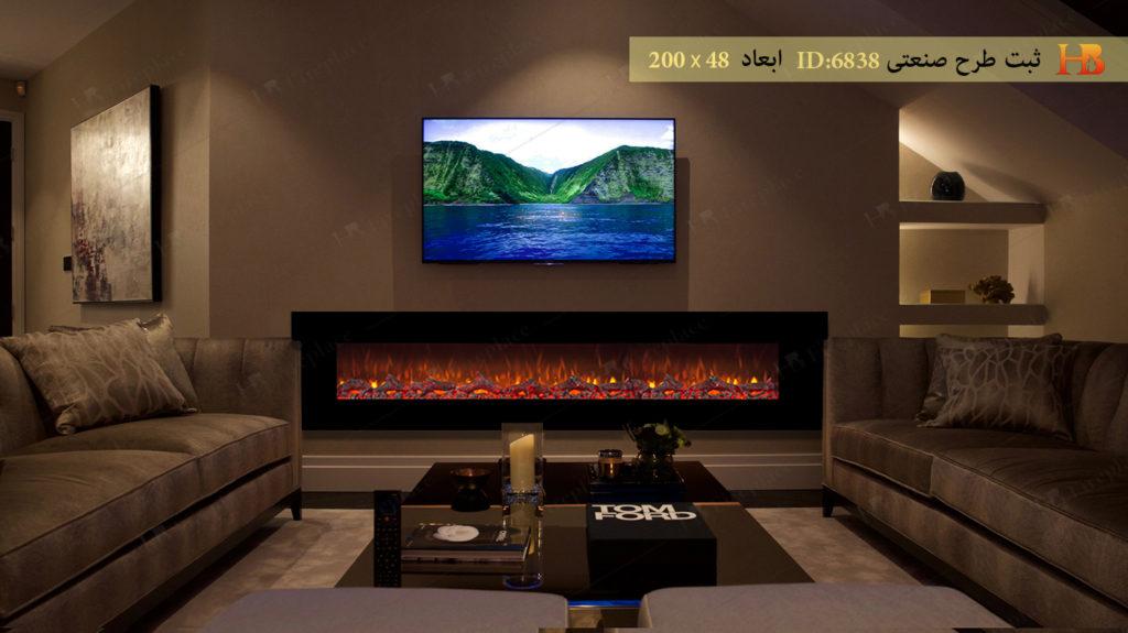 شومینه برقی ال سی دی در دیزاین اتاق نشمین
